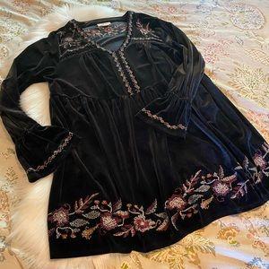 Style & Co Velvet Tunic